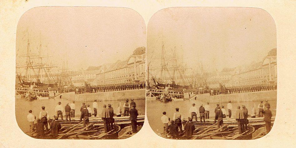 Image stéréoscopique Bernier Alfred Brest 1858