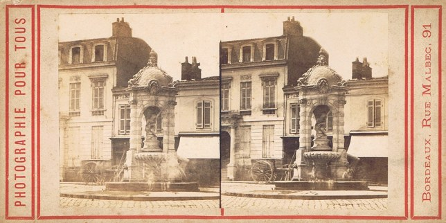 Image stéréoscopique Marie Condat Bordeaux