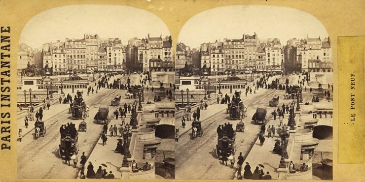 Images stéréoscopiques Paris 1865 Pont-Neuf Deplanque Jules