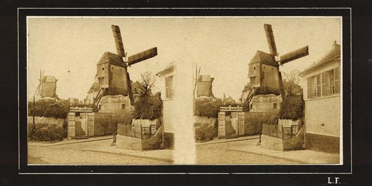 images stereoscopiques Leautte Marcel Paris Moulin de la Galette