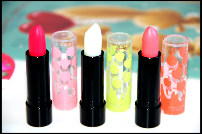 COLLECTION's Pink Strawberry, Green Apple and Orange Burst Lip Balms Review/Swatch (4/6)