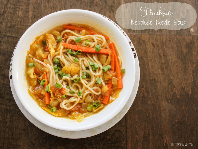 thukpa nepalese noodle soup