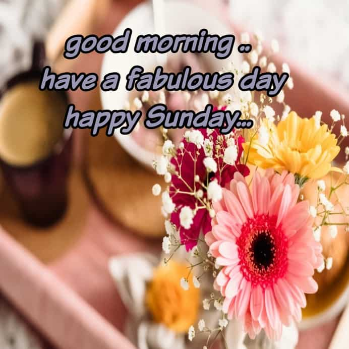 sweet morning with happy Sunday