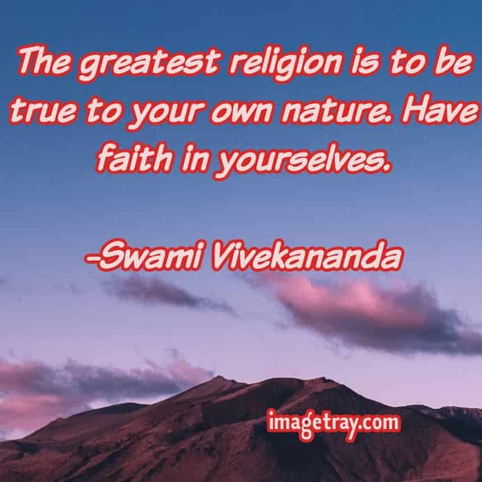 quotes about religion from swami Vivekananda quotes