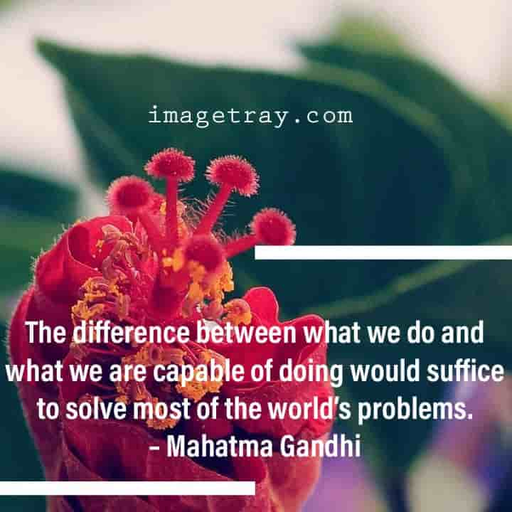Mahatma Gandhi quotes on problems