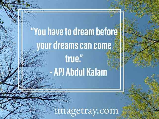 abdul kalam quotes on dream