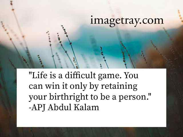 apj abdul kalam quotes on life