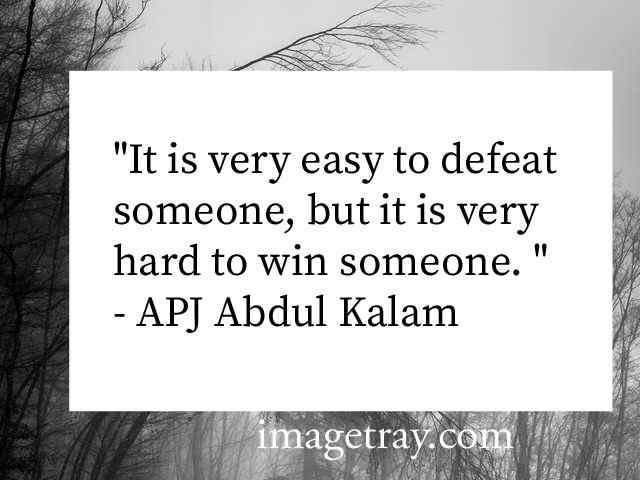 Abdul kalam quotes on defeat