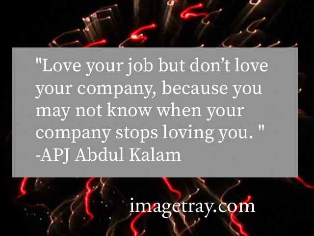abdul kalam quotes for job