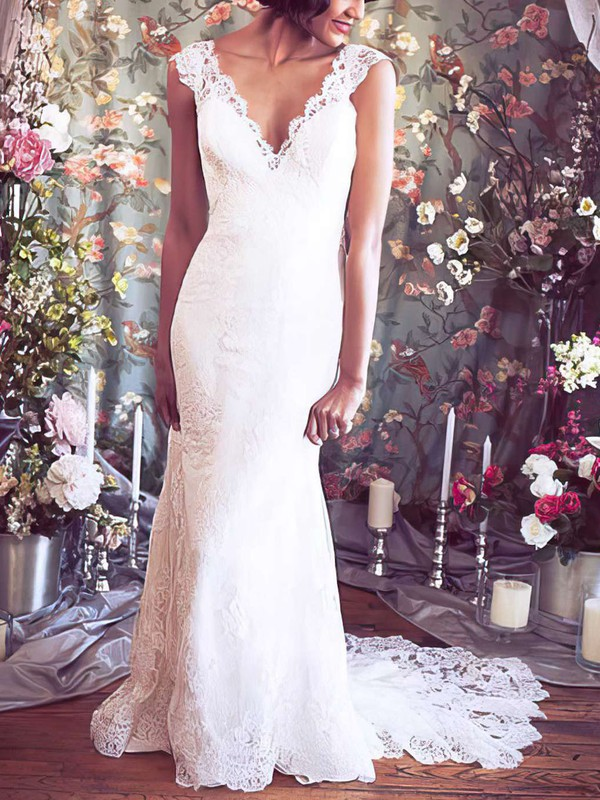 Mermaid Sweet & Flow Lace Dresses for Bridal