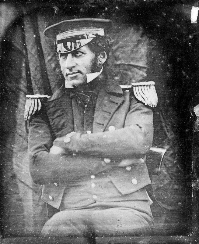 Lieutenant Graham Gore, Commander - daguerrotype by Baird. Image copyright: National Maritime Museum, Greenwich, London.