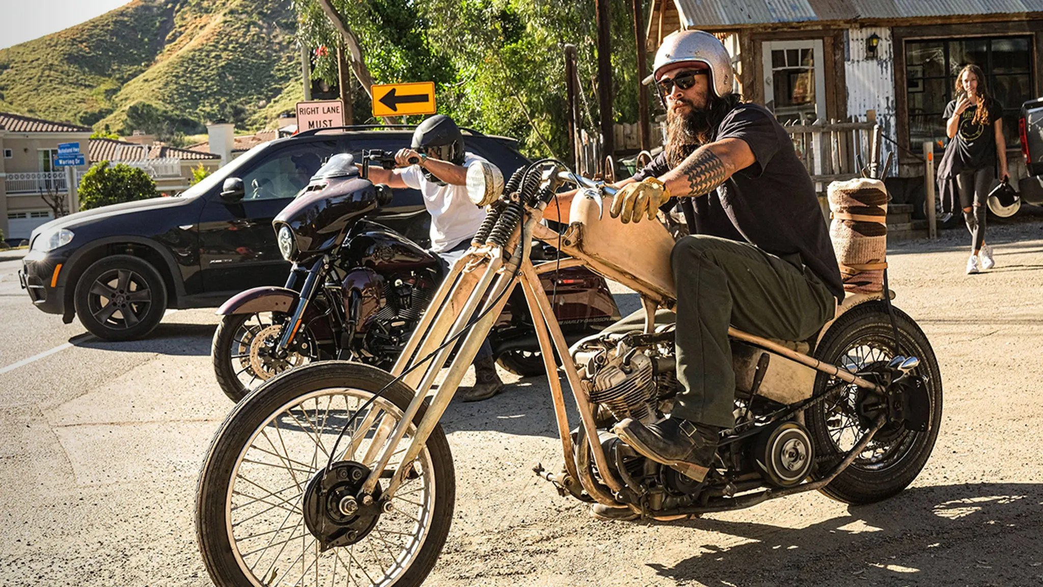 Jason Momoa Takes Quarantine Break with Sweet Harley Ride