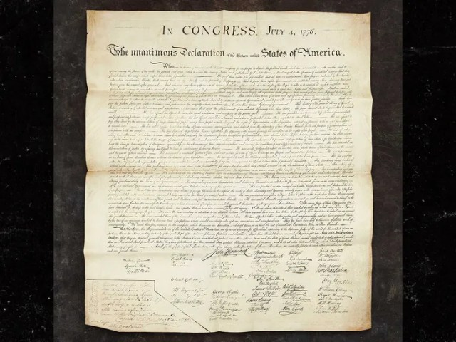 Charles Carroll's copy of the Declaration of Idependence