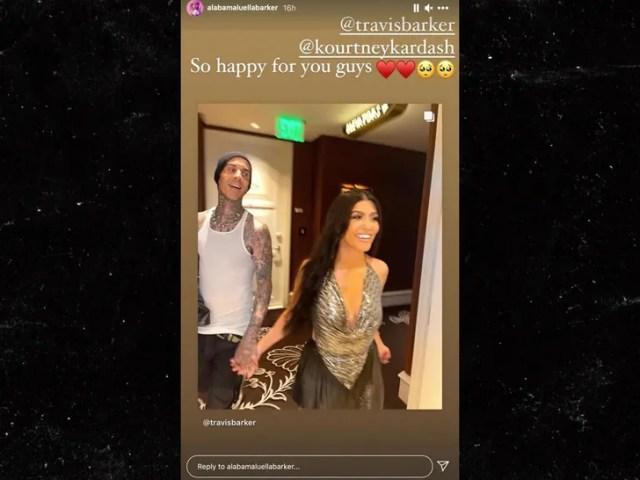 travis barker and kourtney kardashian are not engaged