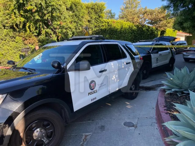 Hollywood Hills Shooting -- Police On The Scene