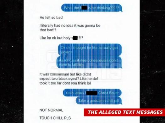 trevor bauer text messages