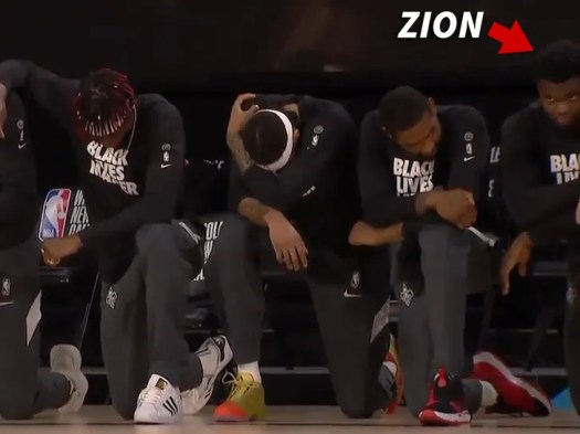 LeBron James Leads NBA Players Kneeling For National Anthem In NBA Restart 3