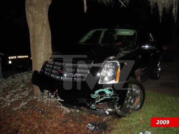 Tiger Woods crash scene