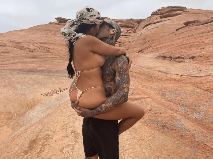 Kourtney Kardashian and Travis Barker Together