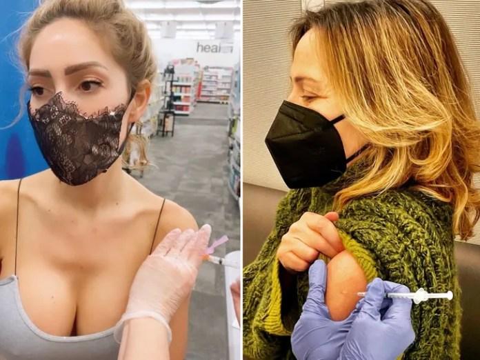 Celebrities receiving COVID-19 vaccine