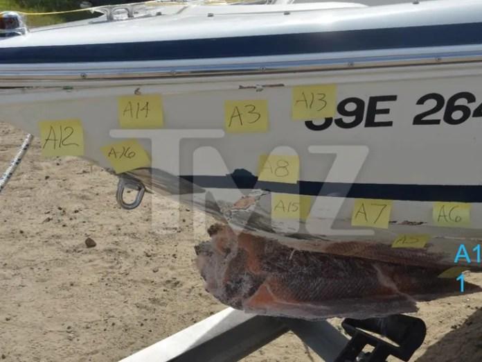 O'Leary's Boat Crash Damage