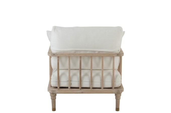 Zetel 1 persoon eik/textiel wit