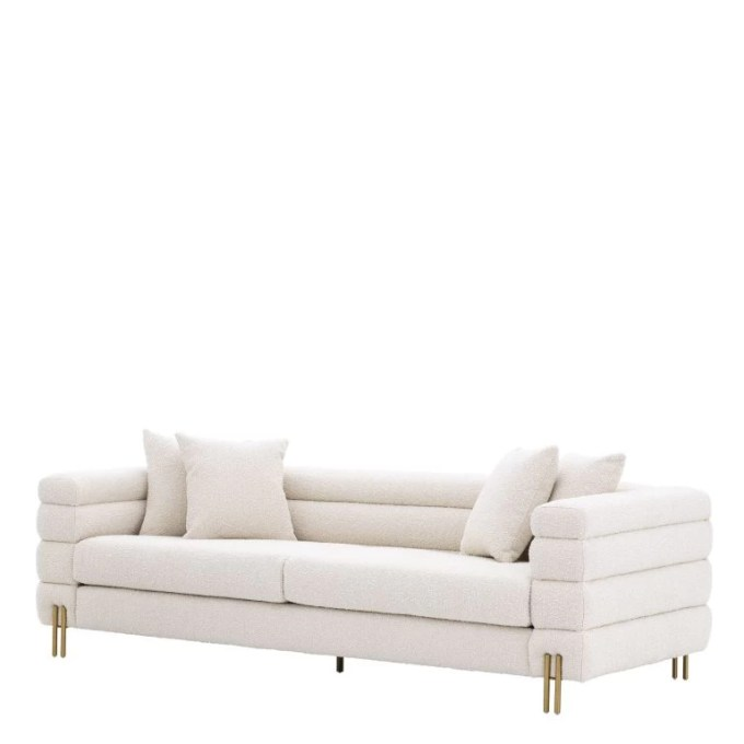 York sofa bouclé cream