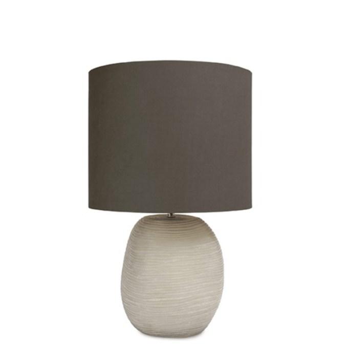 Patara Tafellamp Round Browngrey 01