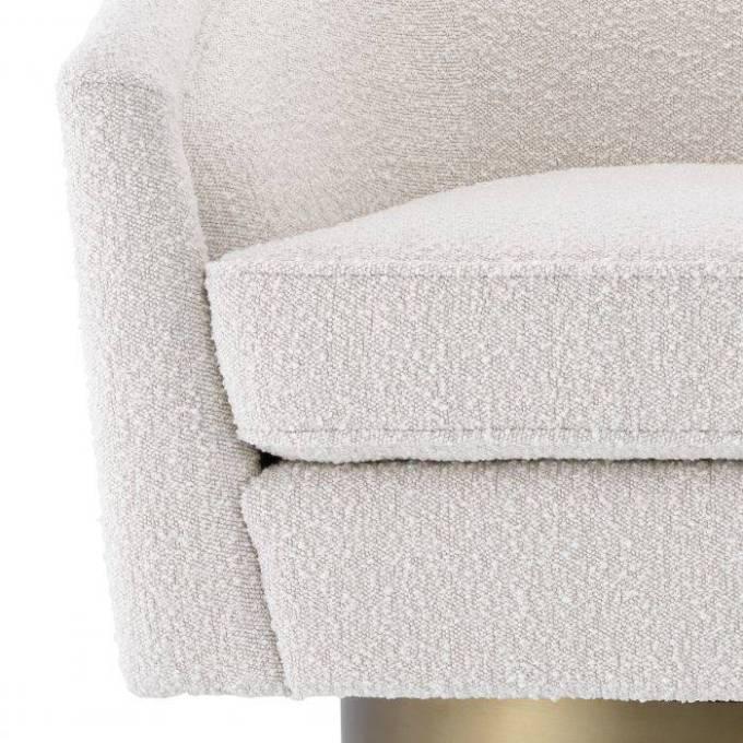 Swivel Chair Catene bouclé cream