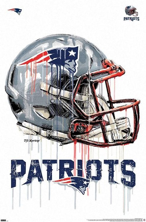 new england patriots 2020 helmet logo poster 22 x 34