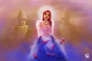 Lady of the Sea - Pintura digital