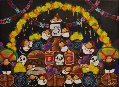 Suke Todos los santos - 55 x 75 cm. - Acrílico sobre lienzo