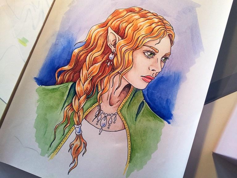Imaginary Karin - promarkers elf drawing
