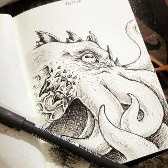 Imaginary Karin - inktober drawlloween cthulhu