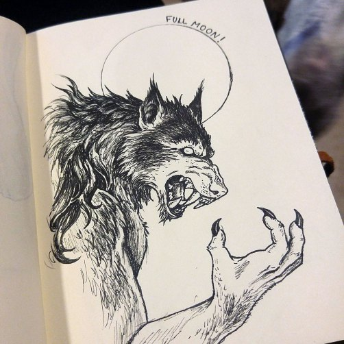 Imaginary Karin - inktober drawlloween werewolf
