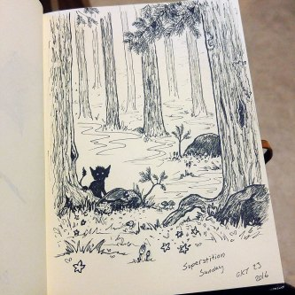 Imaginary Karin - inktober drawlloween troll forest