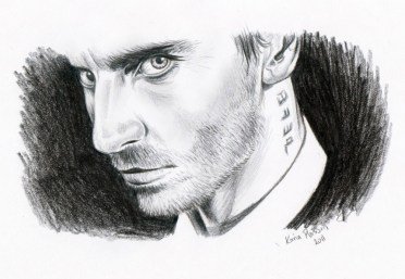 Imaginary Karin - Michael Fassbender drawing