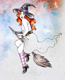 Imaginary Karin - witch way drawing