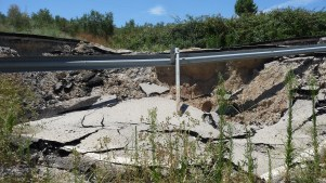 Los daños del temporal de marzo son graves y, según Diputación, obligarán a un nuevo studio geológico del terreno...