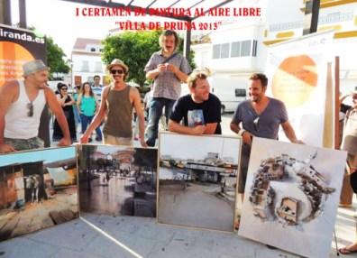 Ganadores del concurso de pintura de Pruna, celebrado en junio de 2013.