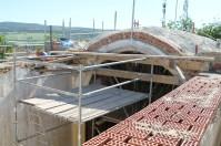 Imagen de la cúpula durante su arreglo.