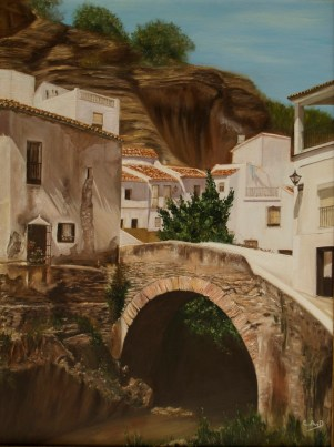 Preciosa pintura del puente de Triana.