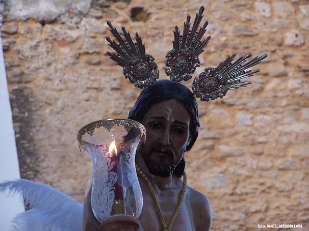 El Amarrao, en el inicio de la procesión del Jueves Santo por la Villa medieval. Foto: ÁNGEL MEDINA LAÍN