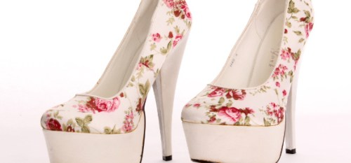 Laura Ashely Heels BHBS Floral Shoes