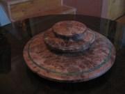 "Redwood burl 2 piece bowl 12"" x 5"""