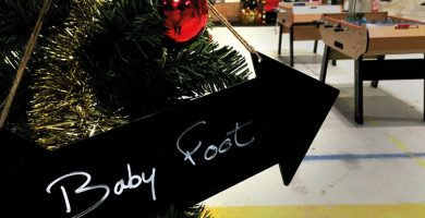 animations arbre de noel baby foot