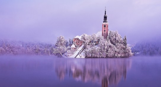 Bled Island in Winter Times