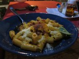 Pasta is the specialty at La Trattoria.