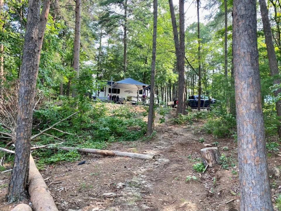 Site 14 Duckett Mill Campground