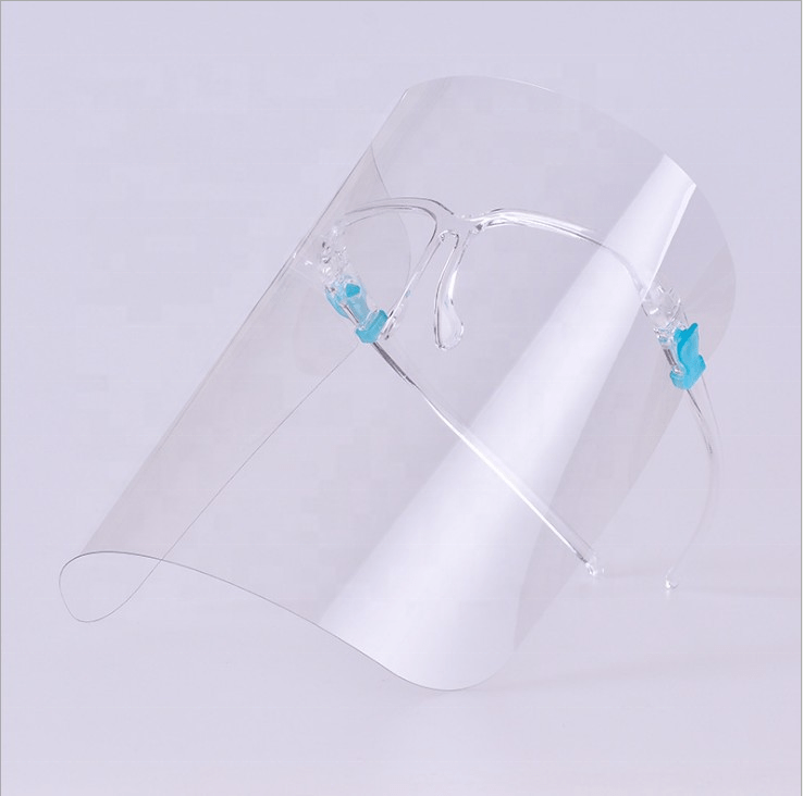 face shield with frames